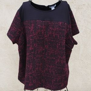Liz Claiborne 3X Top Short Sleeve Shirt Blouse